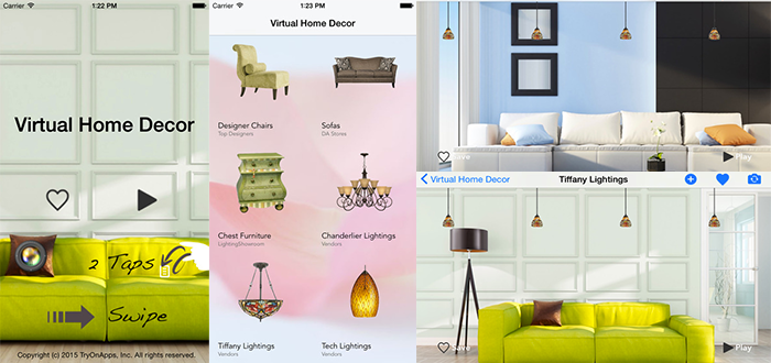 Home decor virtual interior design app Home interior design app